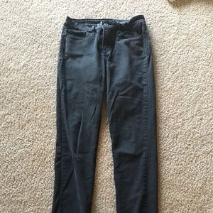 Levi's worm black jeans.